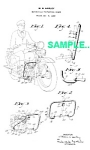Click here to enlarge image and see more about item PAT0215BB1: Patent Art: 1930s HARLEY DAVIDSON Motorcycle - matted