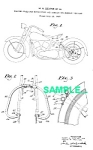 Click here to enlarge image and see more about item PAT0215BB2: Patent Art: 1930s HARLEY DAVIDSON Motorcycle - matted