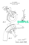 Click here to enlarge image and see more about item PAT0215BB4: Patent Art: 1950 HARLEY DAVIDSON Motorcycle - matted