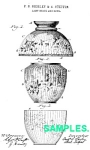 Click here to enlarge image and see more about item PAT0215EE7: Patent:1880s MOUNT WASHINGTON GLASS Lampshade