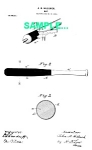 Click here to enlarge image and see more about item PAT0218AA2: Patent Art: 1900s LOUISVILLE SLUGGER Baseball Bat