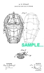 Click here to enlarge image and see more about item PAT0218AA3: Patent Art: 1880s BASEBALL CATCHERS MASK - matted