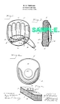 Click here to enlarge image and see more about item PAT0218AA5: Patent: 1890s BASEBALL CATCHERS MITTEN