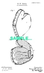 Click here to enlarge image and see more about item PAT0218AA8: Patent Art: 1890s BASEBALL CATCHERS GLOVE - matted