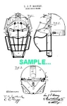 Click here to enlarge image and see more about item PAT0218AA9: Patent Art: 1890s BASEBALL CATCHERS MASK - matted