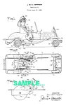 Patent Art: 1930s MARX FIRE Car Windup TOY - matted