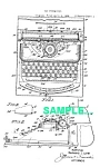 Click here to enlarge image and see more about item PAT0222AA6: Patent Art: 1940s MARX Toy TYPEWRITER - matted