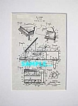 Click here to enlarge image and see more about item PAT0222AA7: Patent Art: 1940s MARX Toy Piano - matted