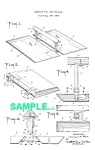 Click here to enlarge image and see more about item PAT0222CC10: Patent: 1930s MANNING BOWMAN Sandwich Tray