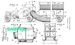 Click here to enlarge image and see more about item PAT0229AA2: Patent Art: 1933 FIREFIGHTING APPARATUS - Matted