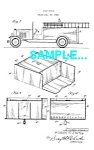 Click here to enlarge image and see more about item PAT0229AA4: Patent Art: 1930s FIRETRUCK - matted