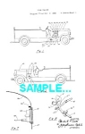 Patent Art: 1930s FIRE ENGINE - Matted