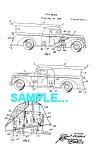 Click here to enlarge image and see more about item PAT0229AA7: Patent Art: 1940s FIRE ENGINE - Matted