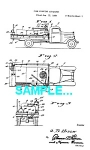 Click here to enlarge image and see more about item PAT0229AA8: Patent Art: 1940s FIRE ENGINE - Matted