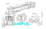 Click here to enlarge image and see more about item PAT0229AA9: Patent Art: 1940s FIRE TRUCK - matted