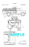 Click here to enlarge image and see more about item PAT0229BB2: Patent Art: 1950s FIRE TRUCK - Matted