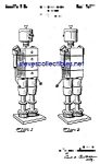 Click here to enlarge image and see more about item PAT0302A1-2007: Patent Art: 1940s American Viscose ROBOT - Mech. Man