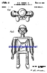 Click here to enlarge image and see more about item PAT0302A2-2007: Patent Art: 1950s ROBOT - Mechanical Man