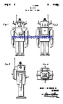 Click here to enlarge image and see more about item PAT0302A3-2007: Patent Art: 1950s TOY ROBOT - Mechanical Man