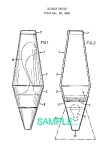 Click here to enlarge image and see more about item PAT0411AA3: Patent Art: 1970s LAVA LAMP DESIGN - matted
