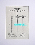Click here to enlarge image and see more about item PAT0411BB3: Patent Art: 1800s KNIGHTS OF PYTHIAS SWORD-matted