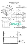 Click here to enlarge image and see more about item PAT0411BB5: Patent Art: 1940s BOOK MATCH SHIPPING CONTAINER -matted