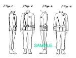 Click here to enlarge image and see more about item PAT0411CC5: US Patent: STAR TREK II: Kirk Uniform