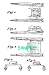 Click here to enlarge image and see more about item PAT0411CC6: US Patent: STAR TREK: Vulcan Warp Shuttle