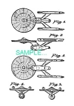 Click here to enlarge image and see more about item PAT0411CC8: US Patent: STAR TREK USS Enterprise Spaceship