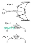 Click here to enlarge image and see more about item PAT0411DD1: US Patent: STAR TREK Klingon Battle Cruiser