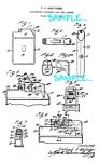 Click here to enlarge image and see more about item PAT051306A1: Patent Art: 1930s Combination CIG. LIGHTER  AND CASE