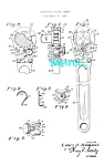 Click here to enlarge image and see more about item PAT051406A1: Patent Art: 1930s SNAP-ON Socket Wrench
