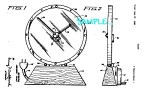 Patent Art: 1950s Jefferson GOLDEN MINUTE CLOCK-matted