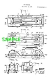 Click here to enlarge image and see more about item PAT0526AA5: Patent: 1930s MANOIL Toy CAR