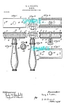 Click here to enlarge image and see more about item PAT0727A2-2006: Patent Art: 1900s FIRST Gillette SAFETY RAZOR - matted