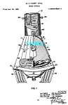 Click here to enlarge image and see more about item PAT0727A6-2006: Patent Art: 1960s NASA Space Capsule - matted