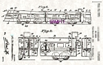 Click here to enlarge image and see more about item PAT0728A2-2006: Patent Art: 1930s AMERICAN FLYER Zephyr Model TRAIN