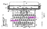 Click here to enlarge image and see more about item PAT0728A4-2006: Patent Art: 1930s AMERICAN FLYER Toy TYPEWRITER