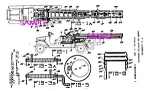 Click here to enlarge image and see more about item PAT0801A5-2006: Patent Art: 1920s Lundahl - BUDDY L TOY FIRE LADDER TRK