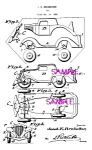 Click here to enlarge image and see more about item PAT0802A3-2006: Patent Art: 1930s HUBLEY Toy Car - Matted Print