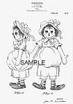 Click here to enlarge image and see more about item PAT0804AA4: Patent Art: 1910s Gruelle 1st RAGGEDY ANN - Matted