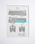 Click here to enlarge image and see more about item PAT0805AA1: Patent Art: 1941 GREYHOUND BUS - Loewy - matted