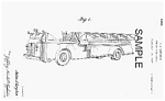 Patent Art: 1940 AERIAL FIRE TRUCK - Matted