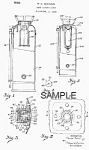 Click here to enlarge image and see more about item PAT0805AA5E: Patent Art: 1940s FIRE EXTINGUISHER - matted
