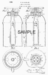 Click here to enlarge image and see more about item PAT0805AA6: 1940s FIRE EXTINGUISHER Patent-Matted B