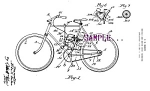 Click here to enlarge image and see more about item PAT0806A1-2006: Patent Art: 1920s BICYCLE AND MOTOR DRIVE - matted