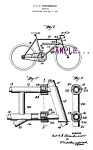 Click here to enlarge image and see more about item PAT0806A2-2006-1154916518: Patent Art: 1920s BICYCLE DESIGN B - Matted Print