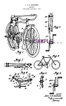 Patent Art: 1920s BICYCLE DESIGN - Matted Print