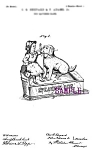 Patent Art: 1880s SPEAKING DOG Mechanical BANK - matted
