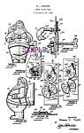 Click here to enlarge image and see more about item PAT0806B1-2006: Patent Art: 1950s SANTA CLAUS Wind-Up BANK - matted